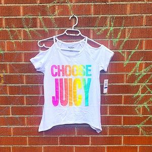 BNWT Girls JUICY COUTURE cold shoulder top
